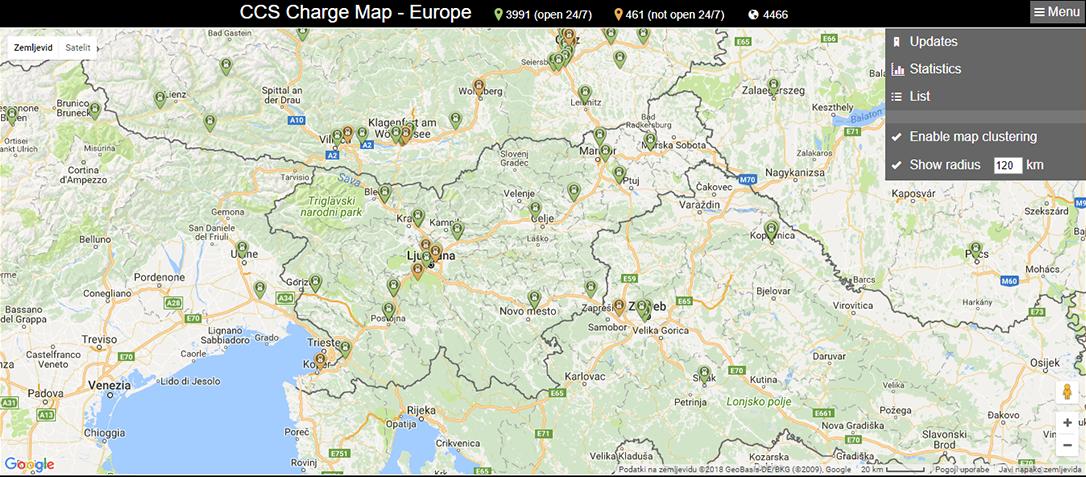 CSS Charge map aplikacija za polnilne postaje