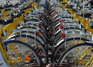 Rumena kolesa v vrsti